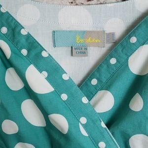 EUC BODEN A Line Polka Dot Dress Size 6